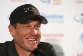 Lance Armstrong of the USA talk to the media during a press conference at the Hilton Hotel on January 14 2010 in Adelaide Australia Armstrong is in...