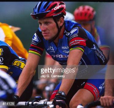 Lance Armstrong rides for charity May 23 1998 at the Ikon 'Race For The Roses' cycling race to benefit the Lance Armstrong Foundation in Austin TX
