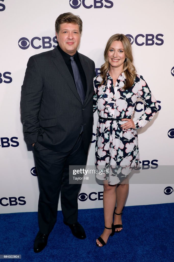 Lance Barber and Zoe Perry attend the 2017 CBS Upfront at The Plaza Hotel on May 17, 2017 in New York City.