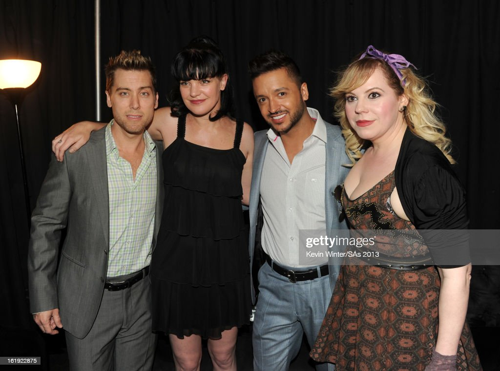 Lance Bass, actress Pauley Perrette, Jai Rodriguez, and actress Kirsten Vangsness attend the 3rd Annual Streamy Awards at Hollywood Palladium on February 17, 2013 in Hollywood, California.