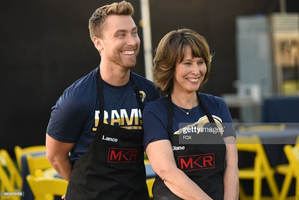 Lance Bass and Diane Bass in the LA Rams Tackle the Final 3 episode of MY KITCHEN RULES airing Thursday, Feb. 23 (9:01-10:00 PM ET/PT) on FOX.