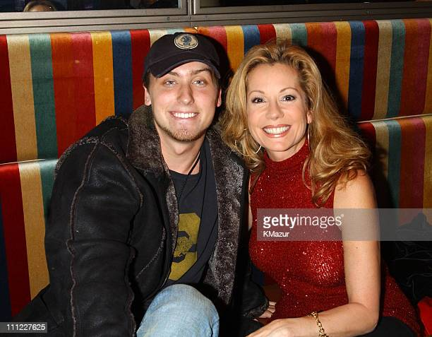 Lance Bass and Kathie Lee Gifford during The 69th Annual Rockefeller Center Christmas Tree Lighting in New York City at Rockefeller Center in New...