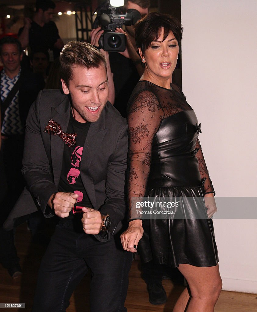 Lance Bass and Kris Jenner attend the Tumbler and Tipsy by Michael Kuluva fashion show presented by UbiSoft's 'Just Dance 4' at STYLE360 in the...