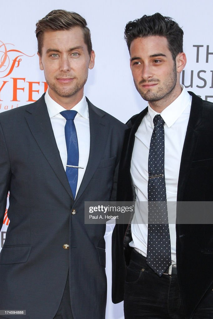 <a gi-track='captionPersonalityLinkClicked' href=/galleries/search?phrase=Lance+Bass&family=editorial&specificpeople=210566 ng-click='$event.stopPropagation()'>Lance Bass</a> (L) and Michael Turchin attend the 3rd Annual Dizzy Feet Foundation's Celebration Of Dance Gala at Dorothy Chandler Pavilion on July 27, 2013 in Los Angeles, California.