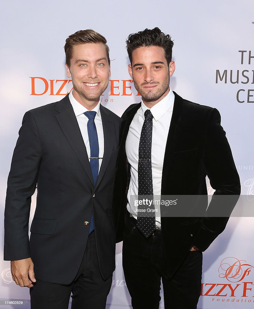 <a gi-track='captionPersonalityLinkClicked' href=/galleries/search?phrase=Lance+Bass&family=editorial&specificpeople=210566 ng-click='$event.stopPropagation()'>Lance Bass</a> and Michael Turchin attend the Dizzy Feet Foundation Third 'Celebration of Dance' Gala at The Music Center on July 27, 2013 in Los Angeles, California.