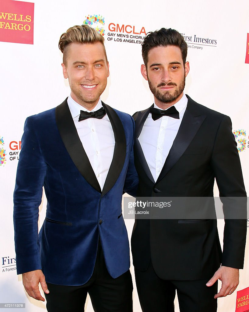 Lance Bass and Michael Turchin attend the GMCLA's 4th annual Voice Awards at The Globe Theatre at Universal Studios on May 3 2015 in Universal City...