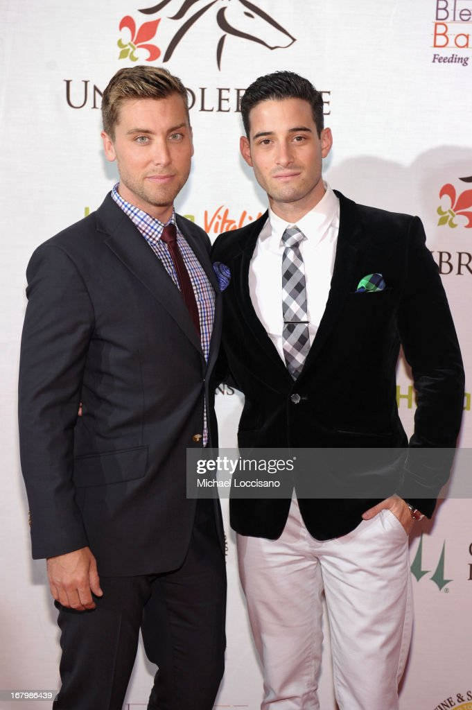 <a gi-track='captionPersonalityLinkClicked' href=/galleries/search?phrase=Lance+Bass&family=editorial&specificpeople=210566 ng-click='$event.stopPropagation()'>Lance Bass</a> and Michael Turchin attend the Unbridled Eve Gala for the 139th Kentucky Derby at The Galt House Hotel & Suites' Grand Ballroom on May 3, 2013 in Louisville, Kentucky.