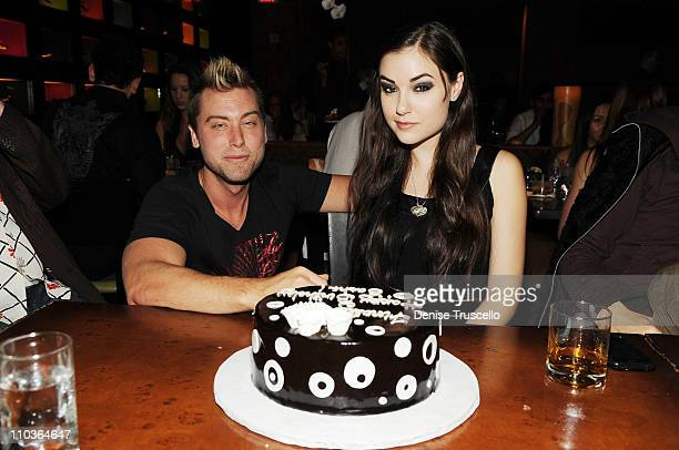 Lance Bass and Sasha Grey celebrate Sasha's 21st Birthday at Tao Las Vegas on March 14 2009 in Las Vegas Nevada