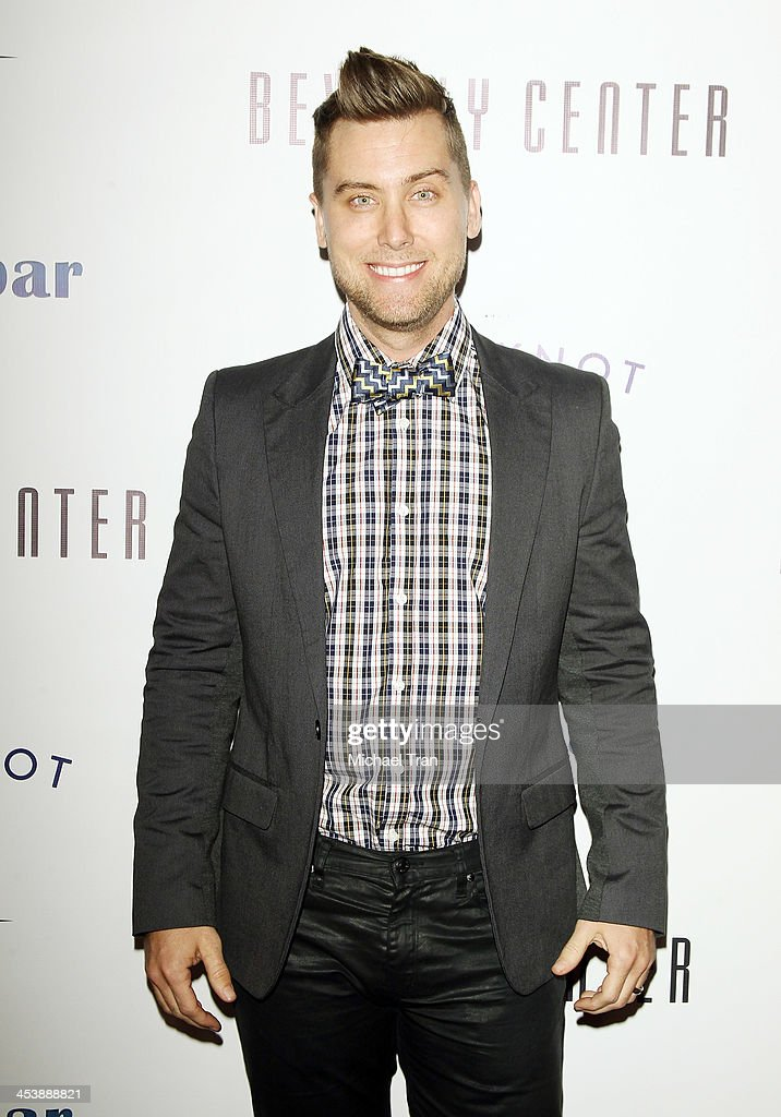<a gi-track='captionPersonalityLinkClicked' href=/galleries/search?phrase=Lance+Bass&family=editorial&specificpeople=210566 ng-click='$event.stopPropagation()'>Lance Bass</a> arrives at the 'Tie The Knot' pop-up store opening held at The Beverly Center on December 5, 2013 in Los Angeles, California.