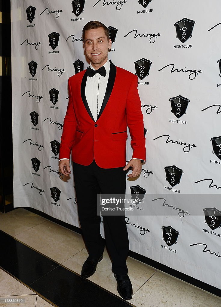 Lance Bass arrives for the New Year's Eve countdown at 1 OAK Nightclub at The Mirage Hotel & Casino on December 31, 2012 in Las Vegas, Nevada.