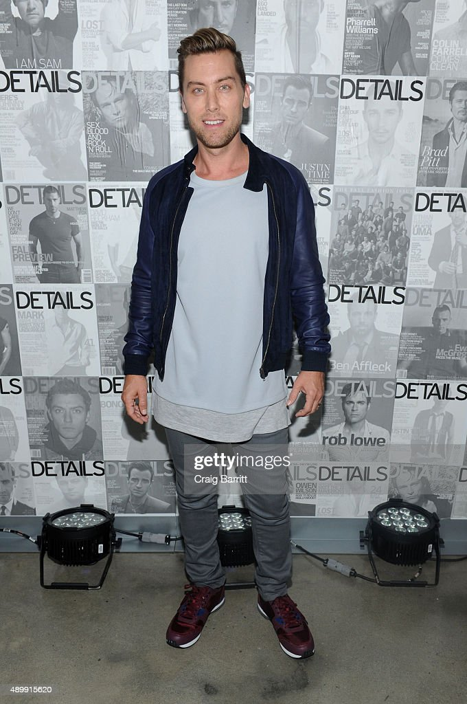 Lance Bass attends the DETAILS magazine 15th anniversary celebration on September 24, 2015 in New York City.