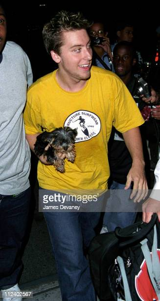 Lance Bass during *NSYNC Sighting in New York City on September 4 2001 at New York City in New York City New York United States