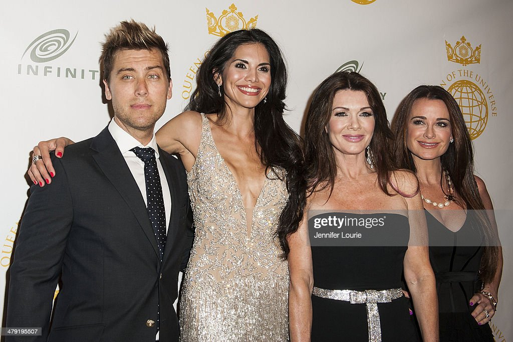 <a gi-track='captionPersonalityLinkClicked' href=/galleries/search?phrase=Lance+Bass&family=editorial&specificpeople=210566 ng-click='$event.stopPropagation()'>Lance Bass</a>, <a gi-track='captionPersonalityLinkClicked' href=/galleries/search?phrase=Joyce+Giraud&family=editorial&specificpeople=841715 ng-click='$event.stopPropagation()'>Joyce Giraud</a>, <a gi-track='captionPersonalityLinkClicked' href=/galleries/search?phrase=Lisa+Vanderpump&family=editorial&specificpeople=6834933 ng-click='$event.stopPropagation()'>Lisa Vanderpump</a>, and <a gi-track='captionPersonalityLinkClicked' href=/galleries/search?phrase=Kyle+Richards&family=editorial&specificpeople=2586434 ng-click='$event.stopPropagation()'>Kyle Richards</a> attend the Queen Of The Universe International Beauty Pageant hosted at the Saban Theatre on March 16, 2014 in Beverly Hills, California.