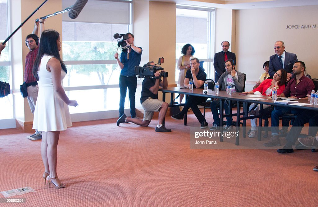 Lance Bass Nayib Estefan Gloria Estefan and Emilio Estefan see all the singers audition for On Your Feet Musical at Adrienne Arsht Center on...