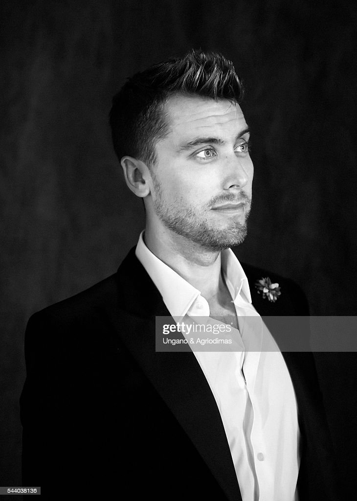 Lance Bass poses for a portrait at Logo's 'Trailblazer Honors' on June 23, 2016, in the Cathedral of St. John the Divine in New York City.