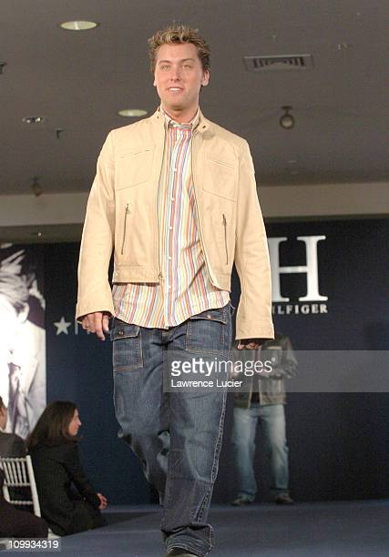 Lance Bass wearing H Hilfiger Spring 2004 during H Hilfiger Spring 2004 Fashion Show at Macy's Herald Square in New York City New York United States