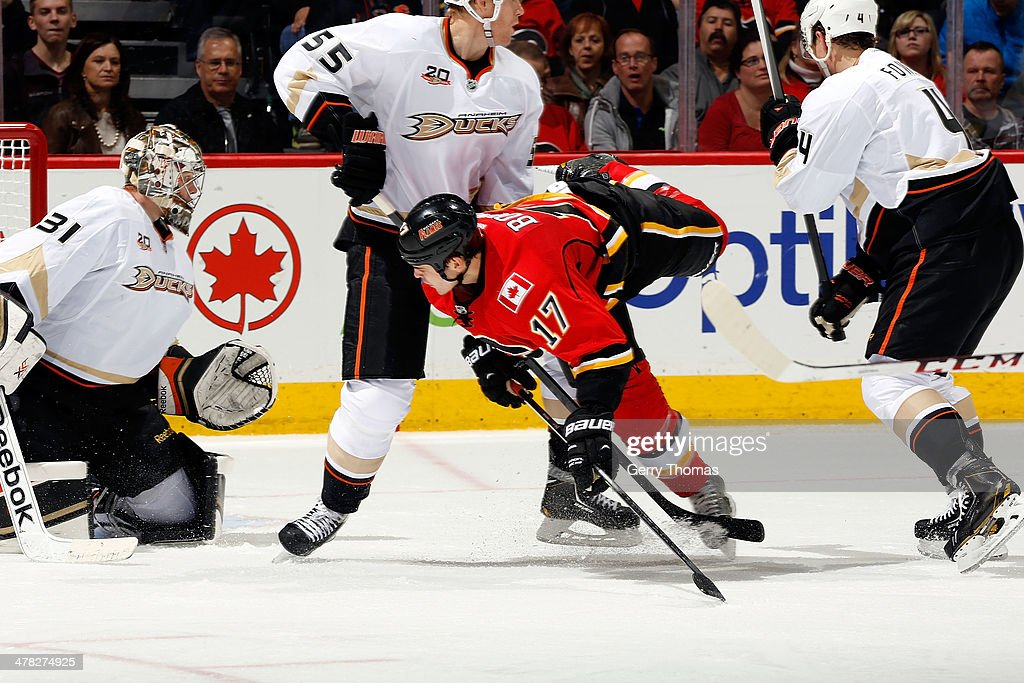 <a gi-track='captionPersonalityLinkClicked' href=/galleries/search?phrase=Lance+Bouma&family=editorial&specificpeople=4303790 ng-click='$event.stopPropagation()'>Lance Bouma</a> #17 of the Calgary Flames skates against the Anaheim Ducks at Scotiabank Saddledome on March 12, 2014 in Calgary, Alberta, Canada.