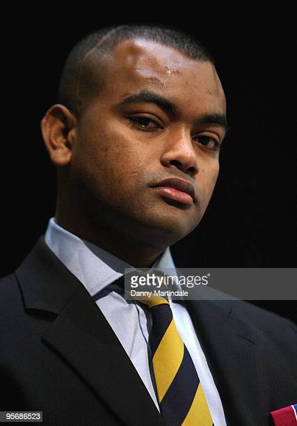 Lance Corporal Johnson Beharry VC attends a photocall for Tickets For Troops at the Royal Opera House on January 11 2010 in London England
