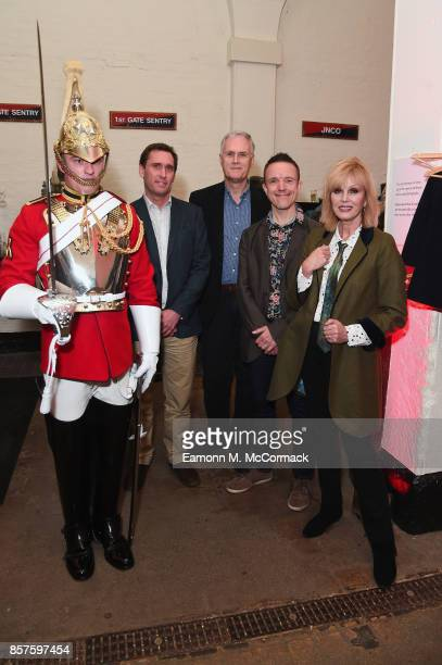 Lance Corporal Robert Hockey Richard Todd David Angus Adrian Sutton and Joanna Lumley attend War Horse 'The Story In Concert' special evening at The...