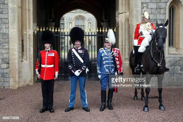 Lance Cpl Bush of the Grenadier Guards Warrant Officer Carsten Mantler of the Royal Lifeguards of Denmark Major Per Stangby Thuesen of the Danish...