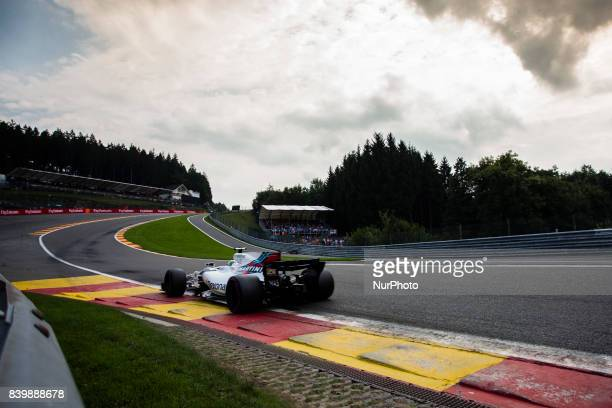 Lance from Canada of Williams F1 during the Formula One Belgian Grand Prix at Circuit de SpaFrancorchamps on August 27 2017 in Spa Belgium