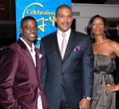 Lance Gross Tasha Smith and Tyler Perry during BET's Celebration of Gospel VII Red Carpet at Orpheum Theatre in Hollywood California United States