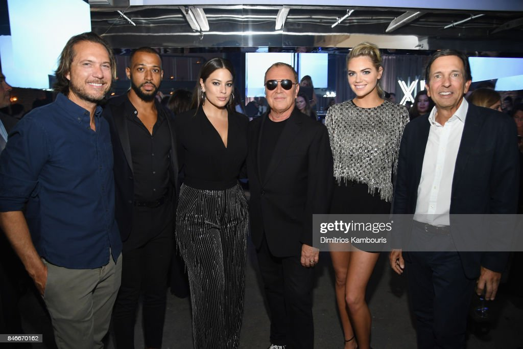 Lance LePere, Justin Ervin, Ashley Graham, Michael Kors, Kate Upton, and John D. Idol attend Michael Kors and Google Celebrate new MICHAEL KORS ACCESS Smartwatches at ArtBeam on September 13, 2017 in New York City.