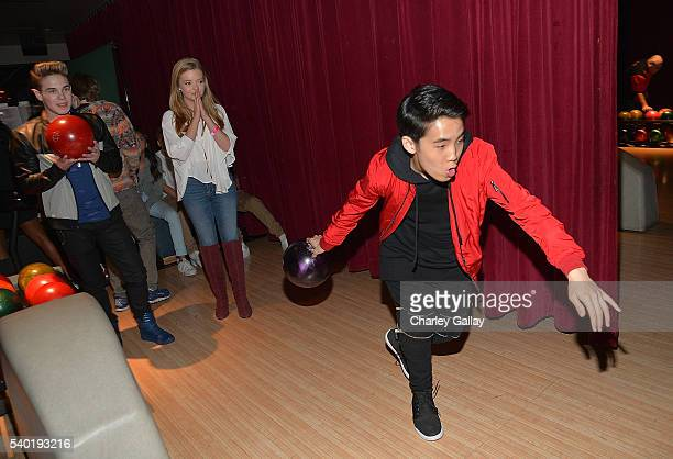 Lance Lim attends Breanna Yde's 13th Birthday Party at Lucky Strike Lanes at LA Live on June 11 2016 in Los Angeles California