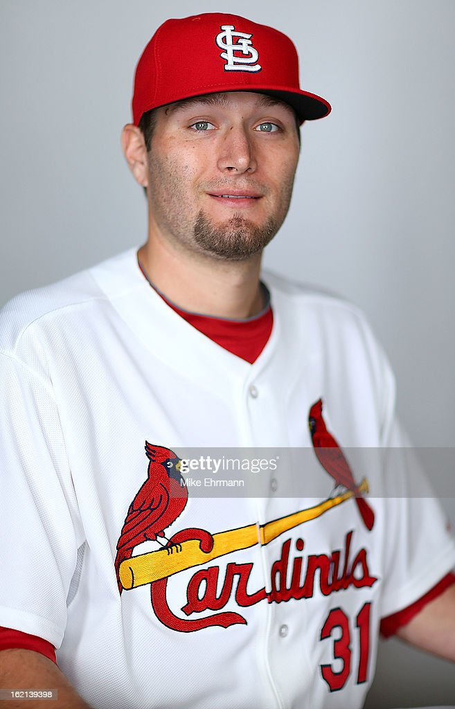 Lance Lynn #31 of the St. Louis Cardinals poses during photo day at Roger Dean Stadium on February 19, 2013 in Jupiter, Florida.