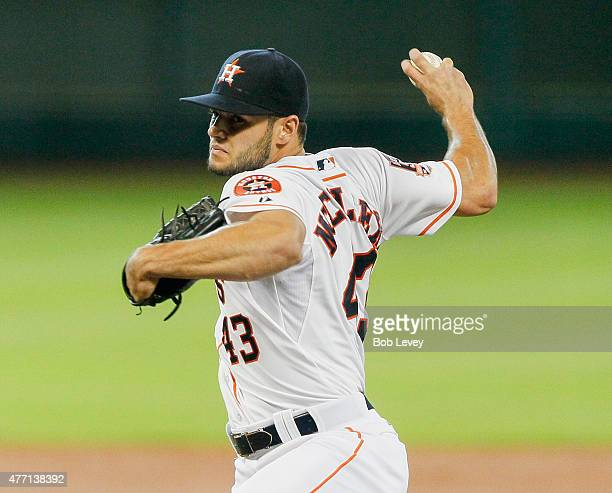 Lance McCullers of the Houston Astros pitches in the first inning against the Seattle Mariners at Minute Maid Park on June 14 2015 in Houston Texas