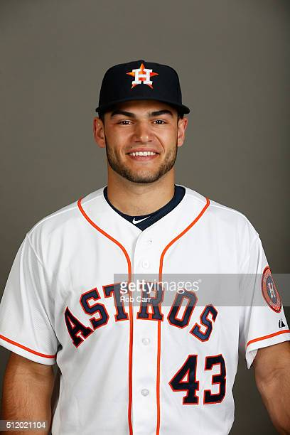 Lance McCullers of the Houston Astros poses on photo day at Osceola County Stadium on February 24 2016 in Kissimmee Florida