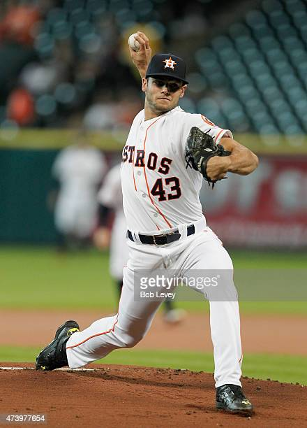 Lance McCullers of the Houston Astros throws against the Oakland Athletics at Minute Maid Park on May 18 2015 in Houston Texas