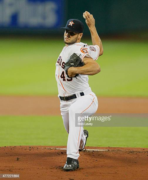 Lance McCullers of the Houston Astros throws against the Seattle Mariners at Minute Maid Park on June 14 2015 in Houston Texas