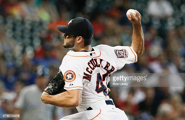 Lance McCullers of the Houston Astros throws in the second inning against the Kansas City Royals at Minute Maid Park on June 29 2015 in Houston Texas
