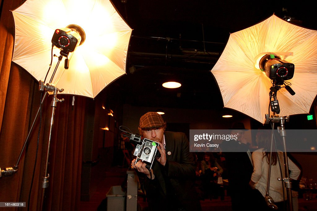 Lance Mercer, photographer, on hand for The Recording Academy members and guests Grammy telecast party at Spitfire on February 10, 2013 in Seattle, Washington.