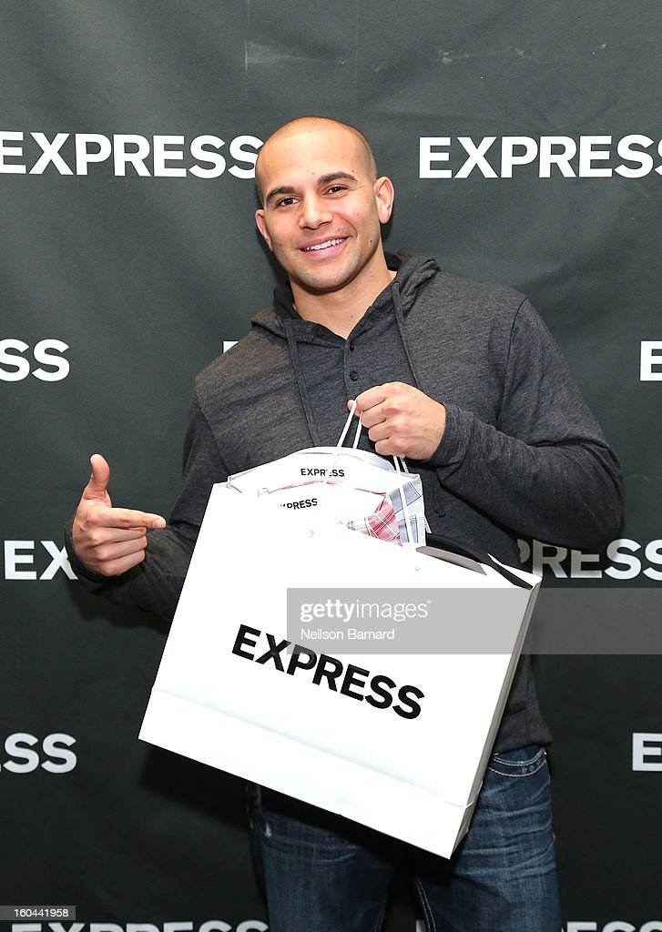 Lance Moore of the New Orleans Saints attends EXPRESS 1MX Ultimate Shirt Shop & 'Welcome to New Orleans' Happy Hour at Hyatt French Quarter Hotel on January 31, 2013 in New Orleans, Louisiana.