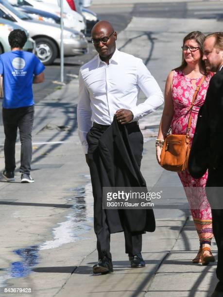 Lance Reddick is seen at 'Jimmy Kimmel Live' on September 06 2017 in Los Angeles California