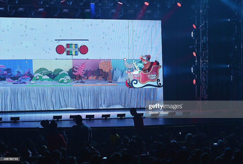 DJ Lance Rock performs at 'Yo Gabba Gabba! Live!' at The Beacon Theatre on December 21, 2013 in New York City.