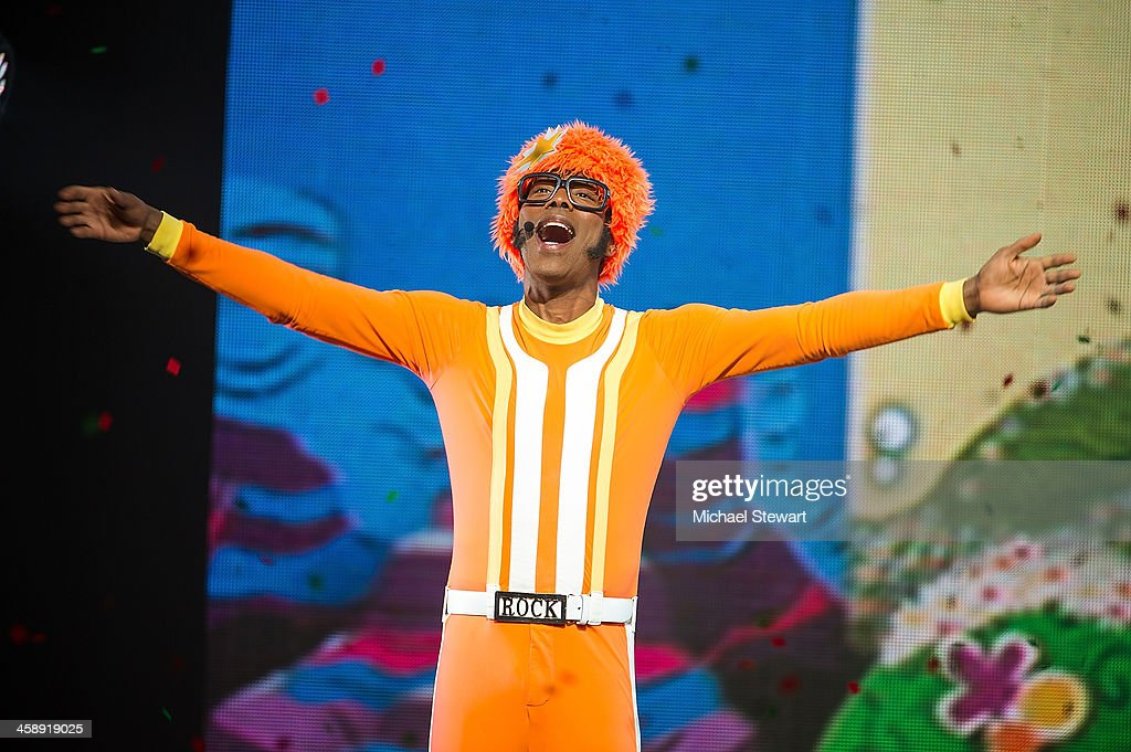 DJ Lance Rock performs during 'Yo Gabba Gabba! Live!' at The Beacon Theatre on December 22, 2013 in New York City.