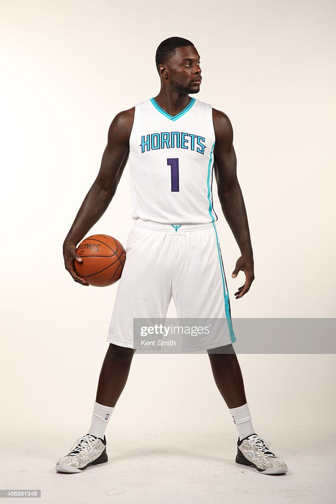 Lance Stephenson of the Charlotte Hornets pose for their 1st ever media day at Time Warner Cable Arena on September 29 2014 in Charlotte North...