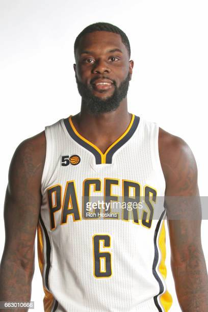 Lance Stephenson of the Indiana Pacers poses for a head shot on March 31 2017 in Indianapolis Indiana NOTE TO USER User expressly acknowledges and...