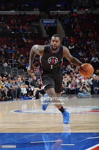Lance Stephenson of the Los Angeles Clippers drives to the basket against the Philadelphia 76ers at Wells Fargo Center on February 8 2016 in...