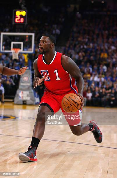 Lance Stephenson of the Los Angeles Clippers in action against the Golden State Warriors at ORACLE Arena on November 4 2015 in Oakland California...