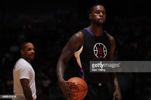 Lance Stephenson of the Los Angeles Clippers is seen during the game against the Denver Nuggets on November 24 2015 at the Pepsi Center in Denver...