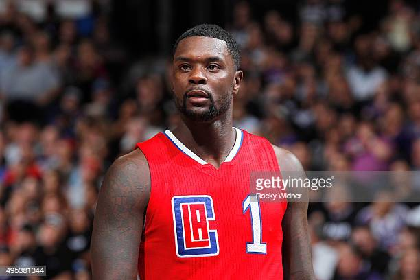 Lance Stephenson of the Los Angeles Clippers looks on during the game against the Sacramento Kings on October 28 2015 at Sleep Train Arena in...