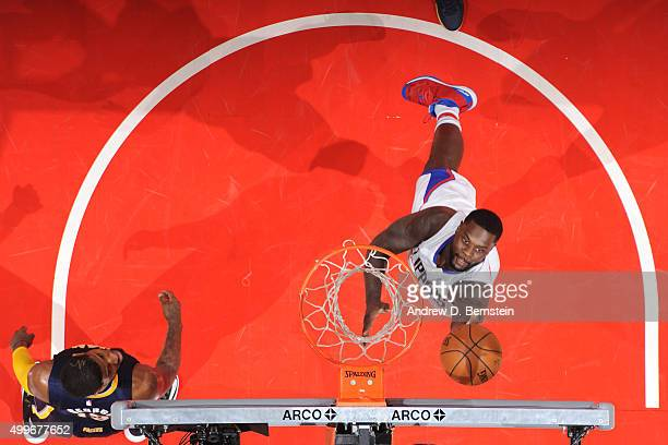 Lance Stephenson of the Los Angeles Clippers shoots the ball against the Indiana Pacers on December 2 2015 at STAPLES Center in Los Angeles...
