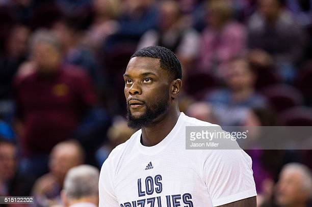 Lance Stephenson warms up prior to the game against the Cleveland Cavaliers at Quicken Loans Arena on March 7 2016 in Cleveland Ohio NOTE TO USER...