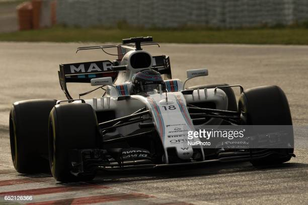 Lance Stroll from Canada of Williams f1 Mercedes FW40 in action during the Formula One winter testing at Circuit de Catalunya on March 10 2017 in...