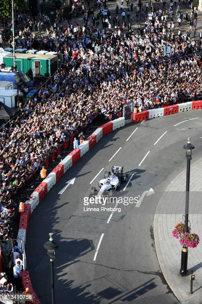 Lance Stroll of Canada and Williams driving the Williams FW36 during F1 Live London at Trafalgar Square on July 12 2017 in London England F1 Live...