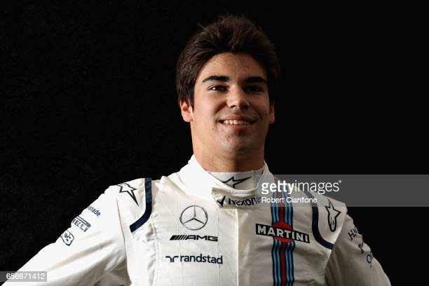 Lance Stroll of Canada and Williams poses for a portrait during previews to the Australian Formula One Grand Prix at Albert Park on March 23 2017 in...